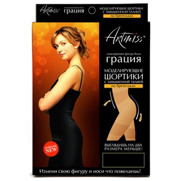 шортики artmiss на бретельках «грация» 00805 (черный)