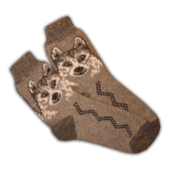 «белые волки» вязаные шерстяные носки N1123