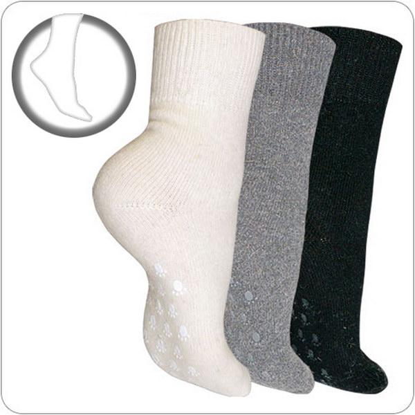 антискользящие тёплые носки  из ангоры и овечьей шерсти 126 (белый)