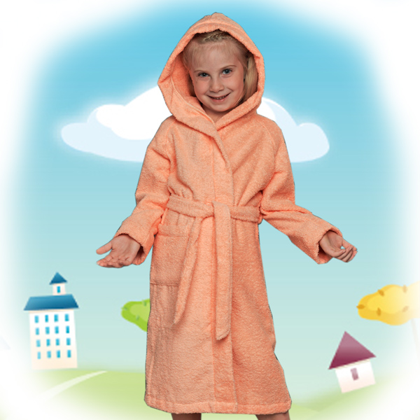 халат детский махровый 204-206 (персик)