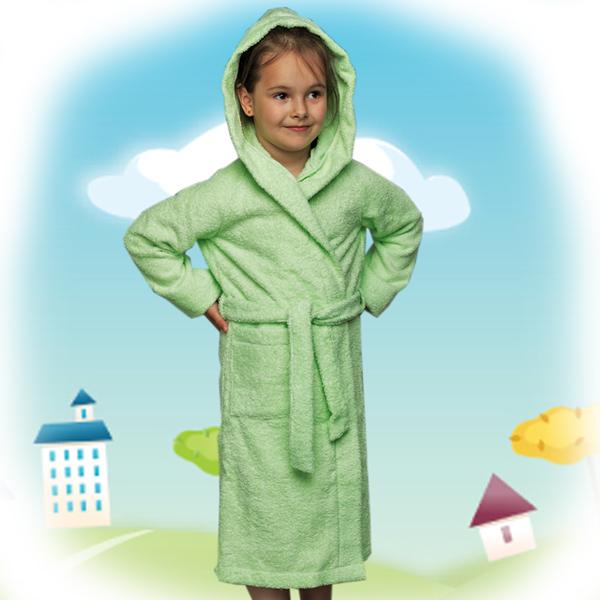 халат детский махровый 204-206 (зеленый)