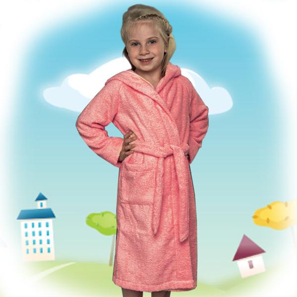 халат детский махровый 204-206 (розовый)