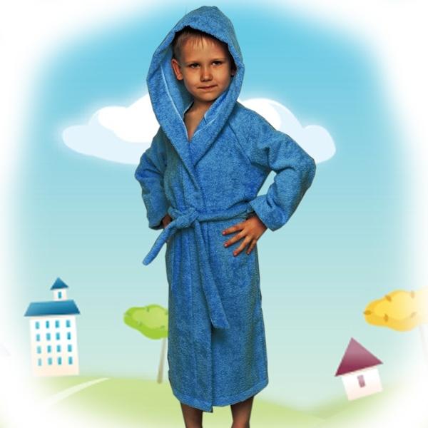 халат детский махровый 204-206 (синий)