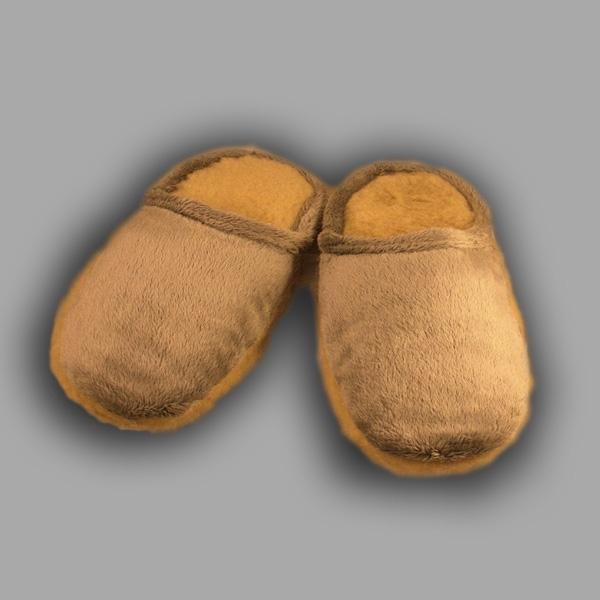 пантолеты на меховой подошве с верхом из велюра 234 (бежевый)