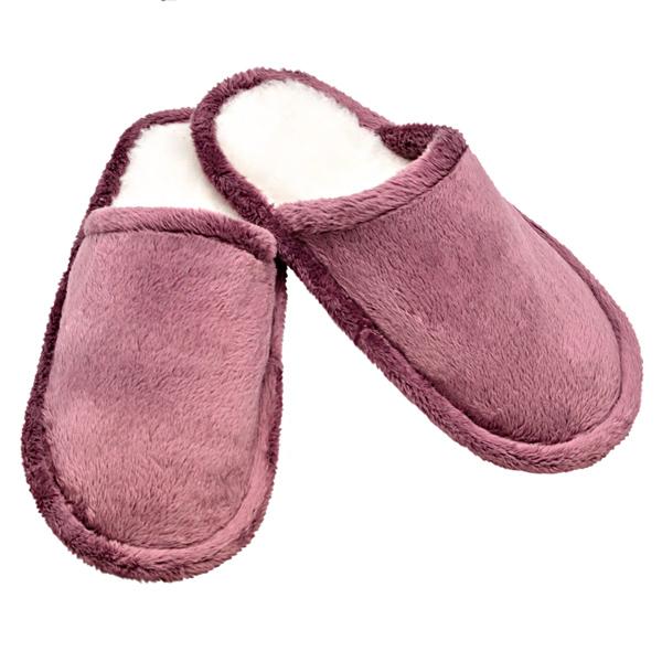 домашние тапочки из овечьего меха с велюровым верхом 235 (ли-розовый)