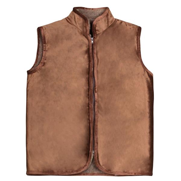 жилет меховой с велюровым верхом (без карманов) жилеты меховые 246 (коричневый)