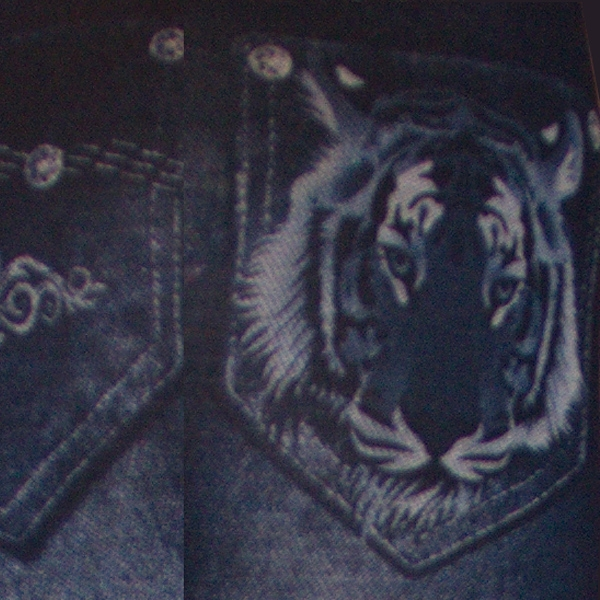 джеггинсы (леджинсы) короткие с тигром 1073-71