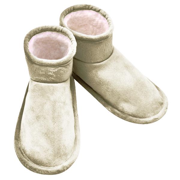 домашние «тапочки-сапожки» меховые с велюровым верхом 276 (серебро)