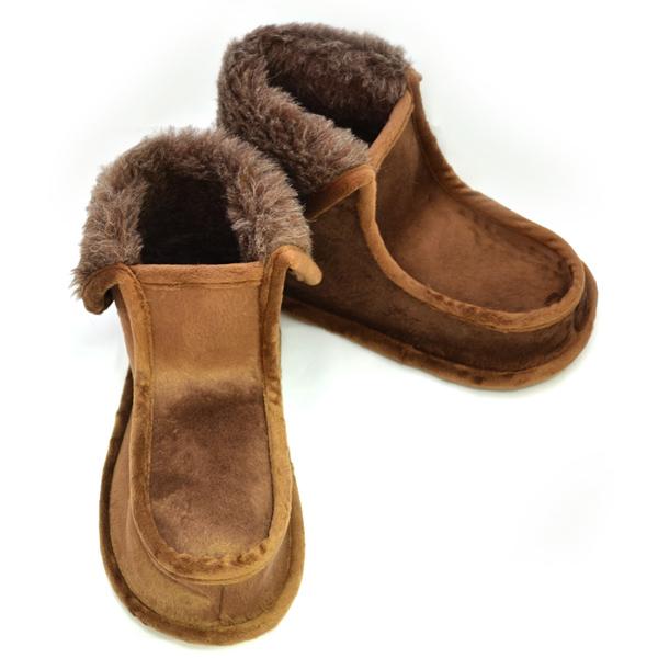 тапочки «сапожки» из верблюжьего меха 283 (коричневый)