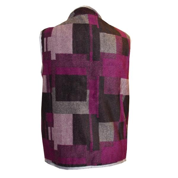 Жилет «ДАЧНЫЙ» воротник-стойка с карманами фиолетовый3
