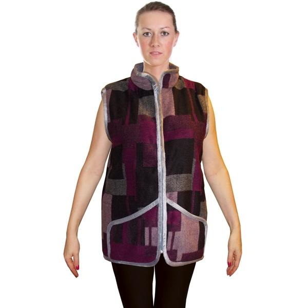 Жилет «ДАЧНЫЙ» воротник-стойка с карманами фиолетовый1