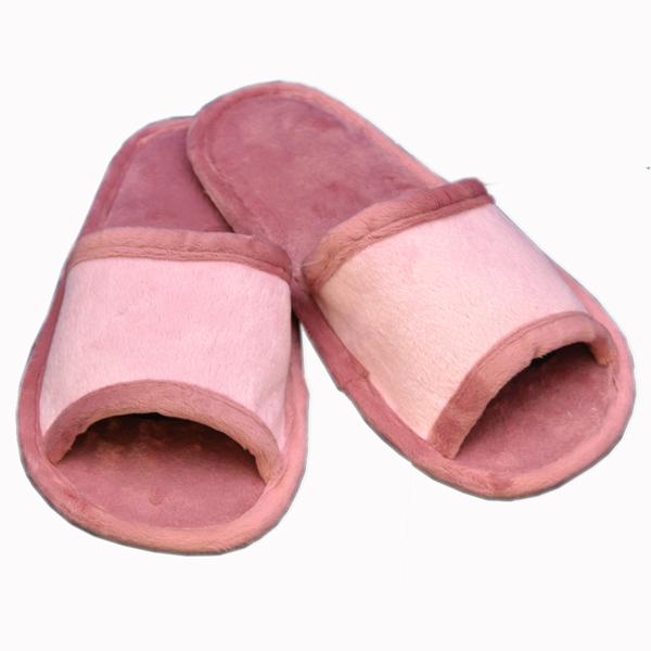 тапочки из хлопка и велюра 302 (pink-lilak)
