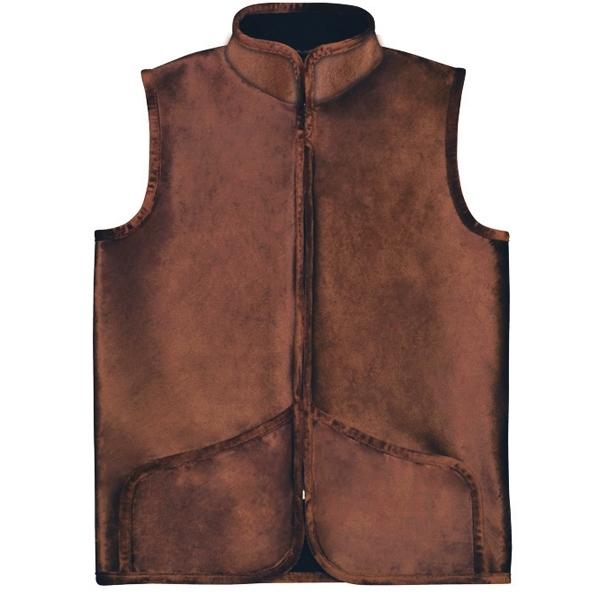велюровый коричневый жилет