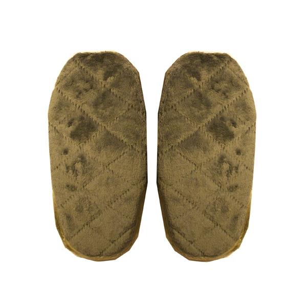 тапочки из хлопка и велюра (пантолеты) 322 (oliva)