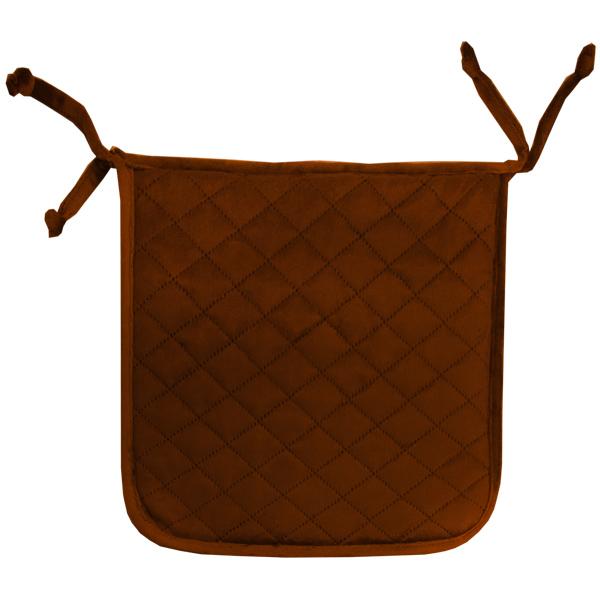 сидушка (мини-коврик) из велюра (2 завязки) 339 (коричневый)