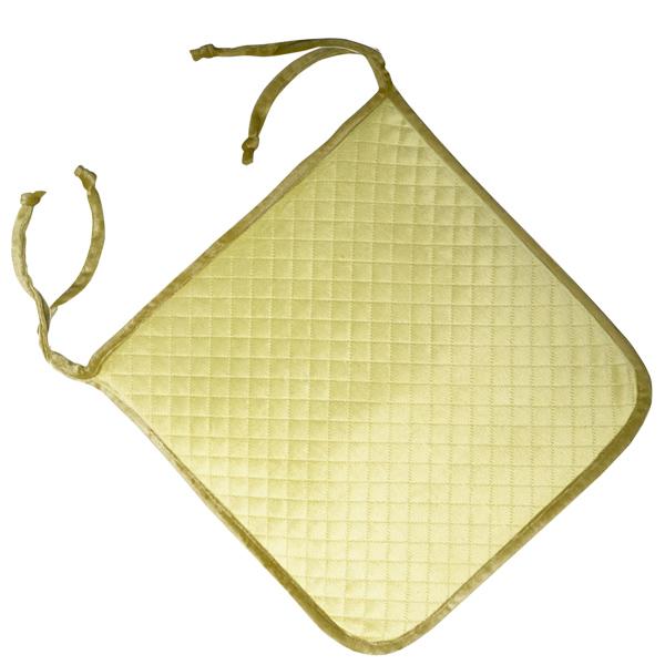 сидушка (мини-коврик) из велюра (2 завязки) 339 (салатовый)