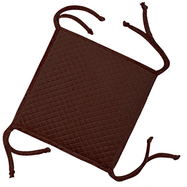 сидушка (мини-коврик) из велюра (4 завязки) 340 (коричневый)