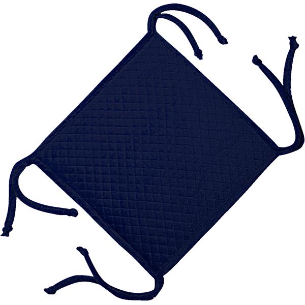 сидушка (мини-коврик) из велюра (4 завязки) 340 (тем-синий)