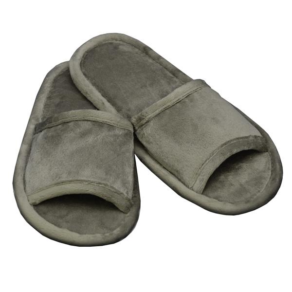 домашние тапочки из велюра 354 (gray)