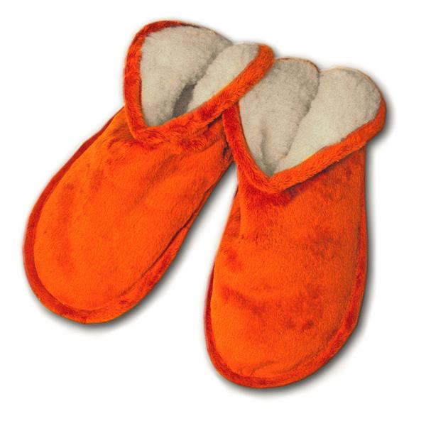 тапочки «меркуры» из  меха 365 (оранжевый)