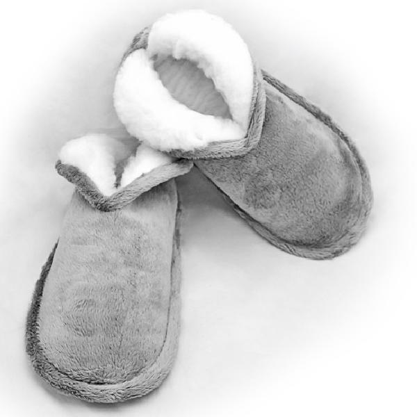 тапочки «меркуры» из  меха 365 (серебро)