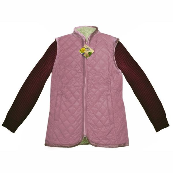 куртка меховая с вязанными рукавами и плащевым верхом 378 (лиловый)