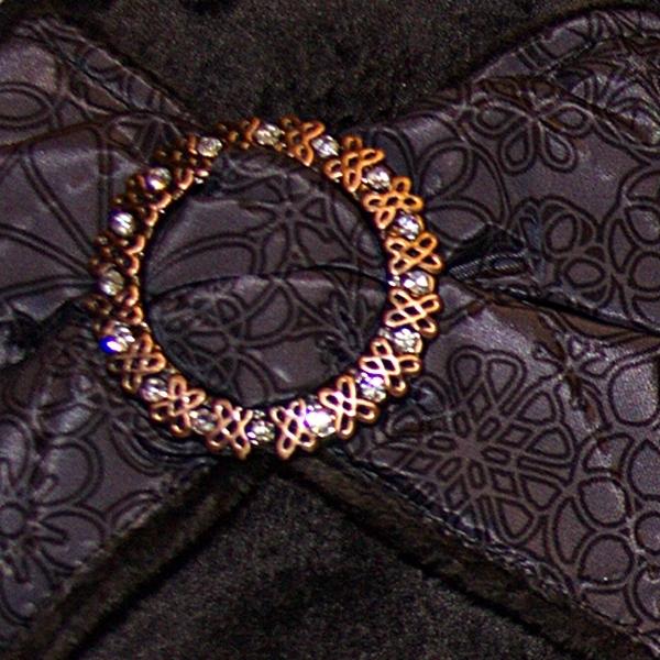 тапочки из велюра чернокоричневые 406 крупно