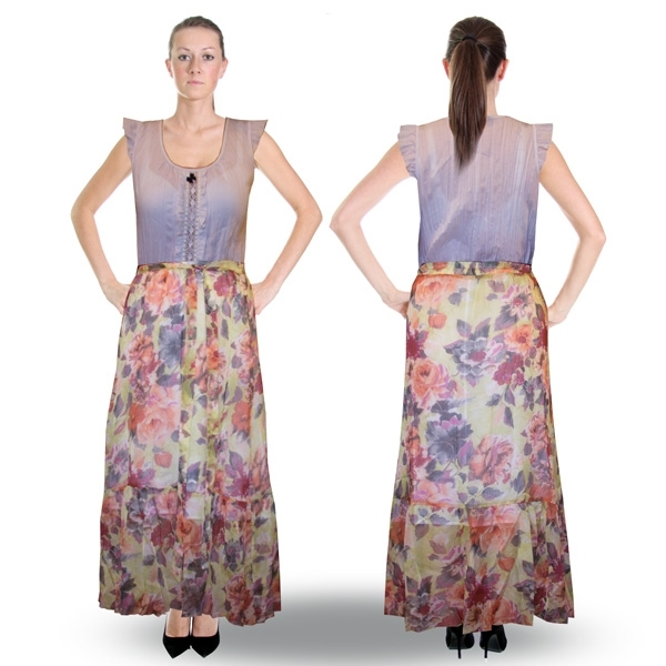 длинная юбка «нежность» женский трикотаж 4621