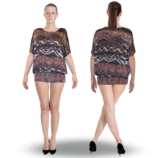 блуза-туника «загадка» женский трикотаж