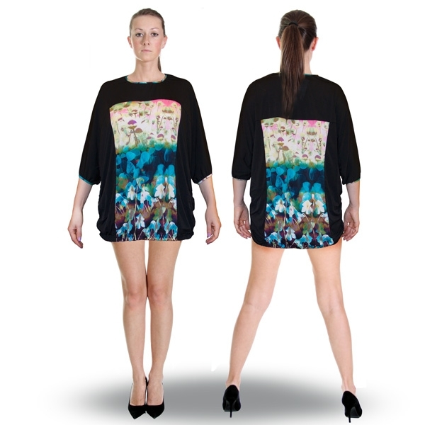 блуза-туника «утро» женский трикотаж 525 (бирюза)