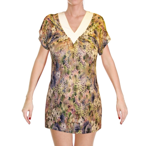 блуза «фиалка» женский трикотаж 531 (белая)