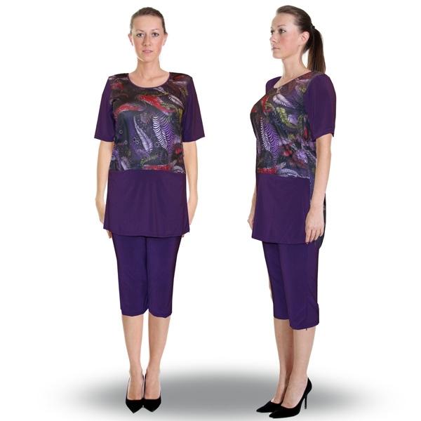 женский костюм «жар-птица» (блуза и бриджи) женский трикотаж 932