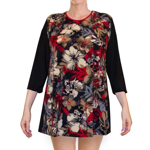 блуза «вечерний сад» женский трикотаж 968
