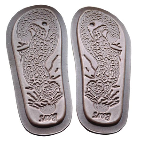 тапочки меховые «шузы» с велюровым верхом 274 (серебро)