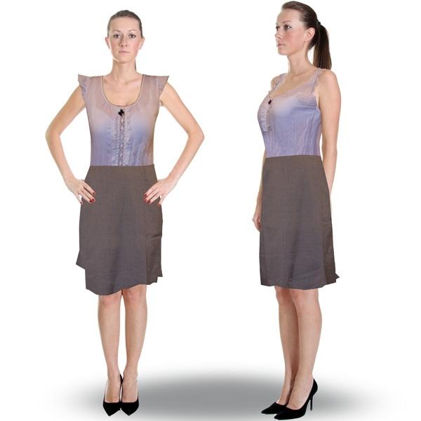 юбка с шерстью «фантазия» женский трикотаж Э30410 (коричневый)