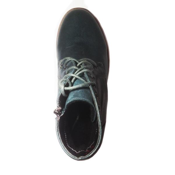 ботинки кожа синий цвет