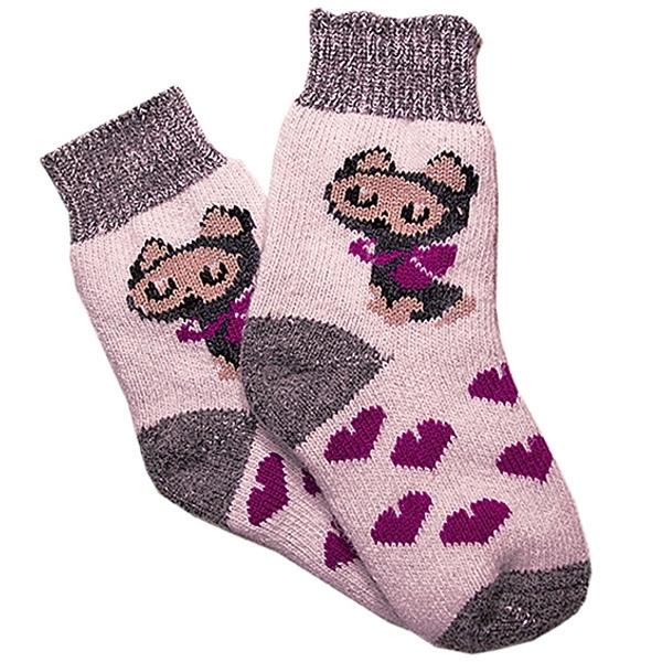 «котята» вязаные шерстяные носки N1122