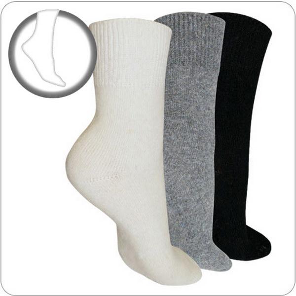 носки согревающие из ангоры и овечьей шерсти 125 (белый)