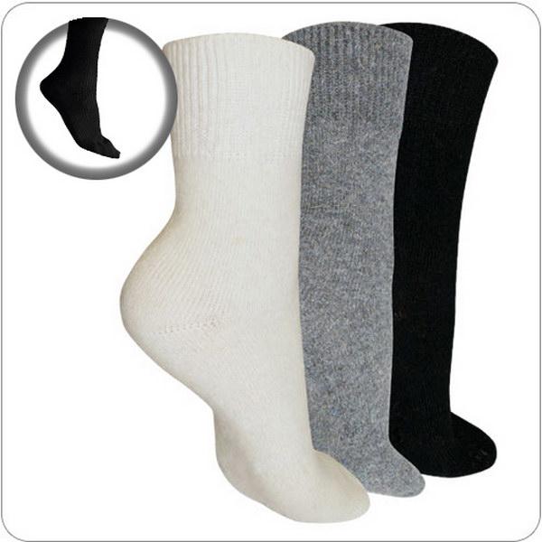носки согревающие из ангоры и овечьей шерсти 125 (черный)
