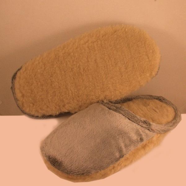 пантолеты на меховой подошве с верхом из велюра 234 (корич) подошва