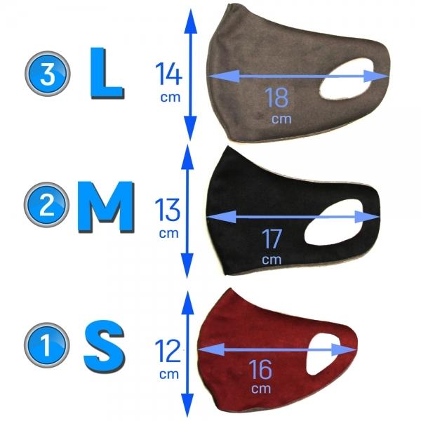 многоразовая защитная маска размеры