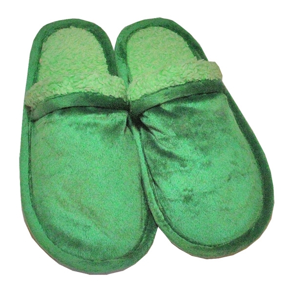 Тапочки Чудо из хлопка и велюра зеленый