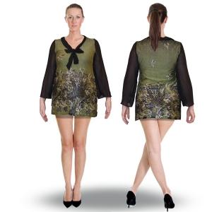 блуза «мечта» (трикотаж и шифон) женский трикотаж 1004
