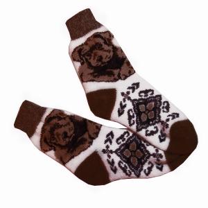 СОБАЧКА носки символ года темно коричневый