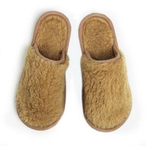 тапочки «golden wool» из шерсти альпака 189 (бежевый)