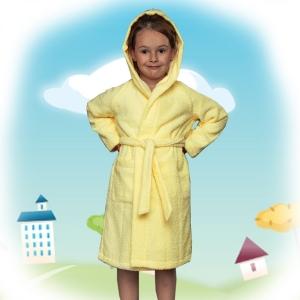 халат детский махровый 204-206 (желтый)