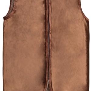 жилет меховой с велюровым верхом (без карманов) жилеты меховые 246 (коричневый) фото