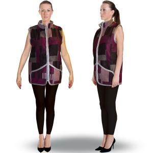 Жилет «ДАЧНЫЙ» воротник-стойка с карманами фиолетовый2