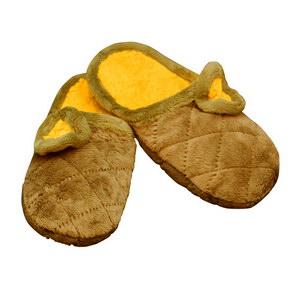 Тапочки из хлопка и велюра (пантолеты)