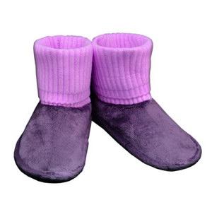 домашние «угги» из овечьего меха, с вязанным верхом 332 (фиолетовый)